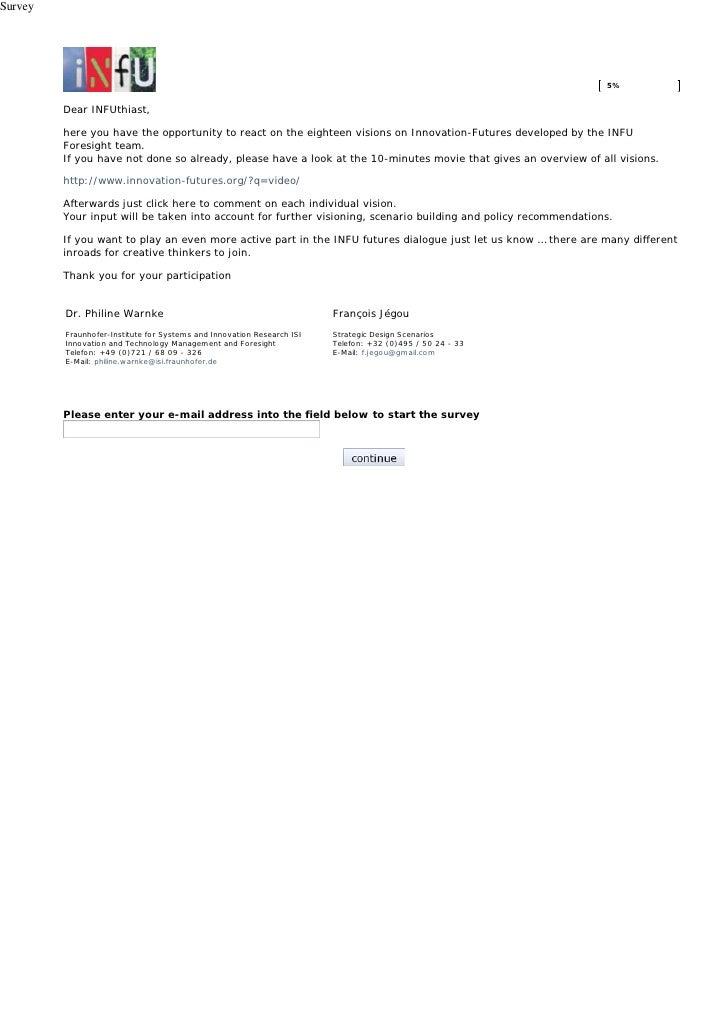 Questionnaire INFU