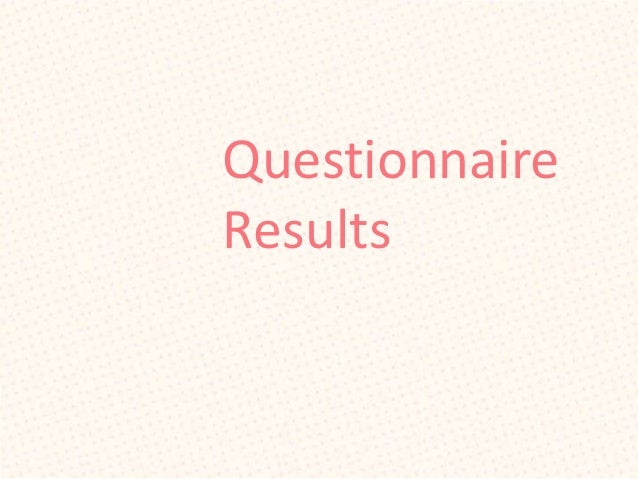 QuestionnaireResults