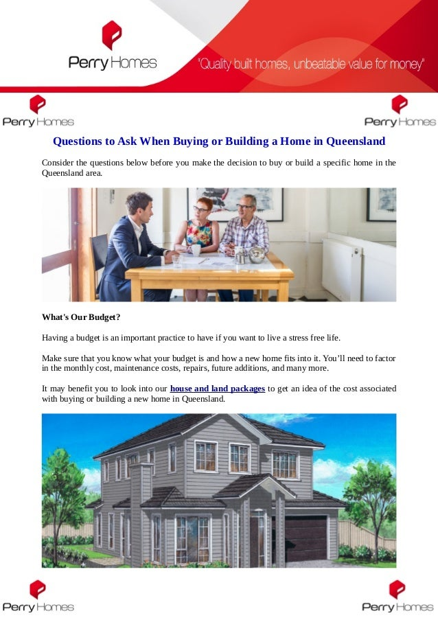 Questions to ask when buying or building a home in queensland for Questions to ask when building a home