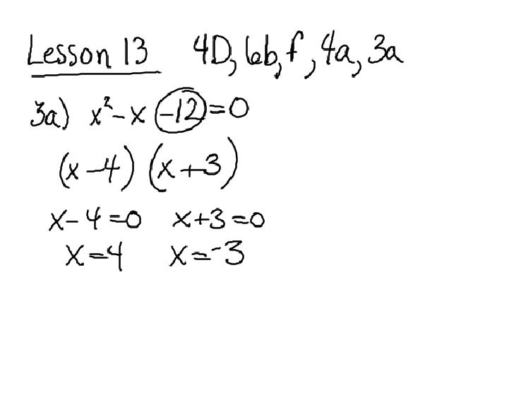 Questions from lesson 13