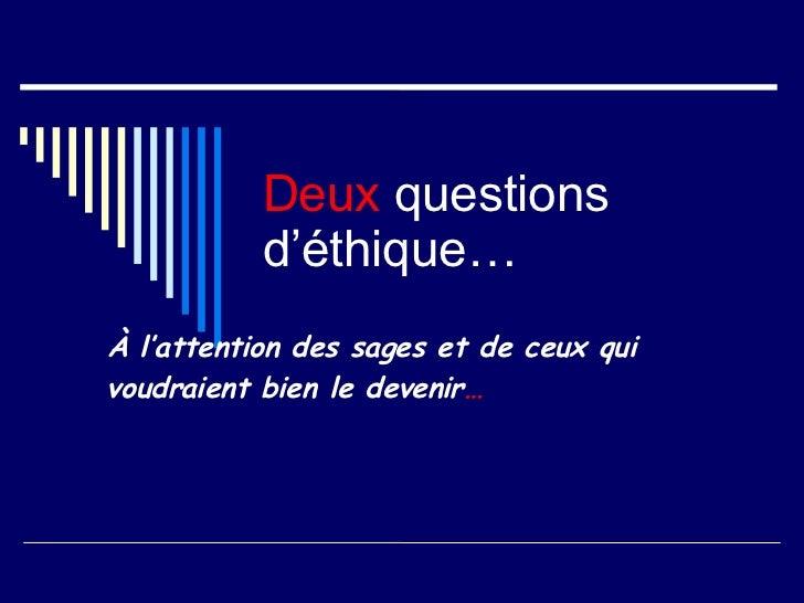 Questions Pertinantes