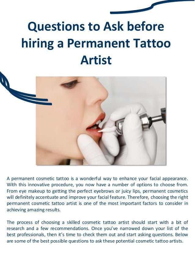 questions to ask before hiring a permanent tattoo artist