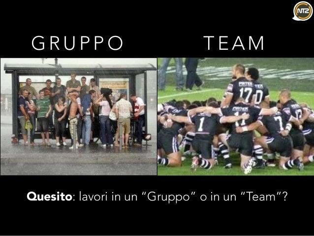 """G R U P P O T E A M Quesito: lavori in un """"Gruppo"""" o in un """"Team""""?"""