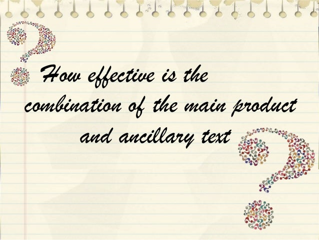 How effective is the combination of the main product and ancillary text