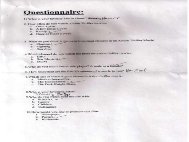 Questionnaire's