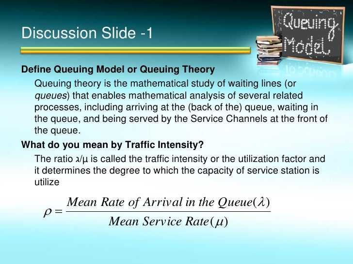 queueing theory research papers Paper presents other cases when server utilization can equal 1, and  at  stanford mentioned the use of queueing theory to study the effect of.