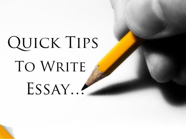 Quick essay