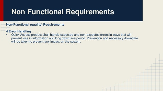 non functional requirements of library management system Functional or non-functional requirement the most common types of non-functional requirements you'll see relate to system applying project management.