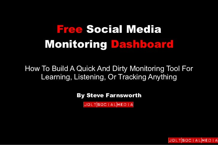 Free Social Media     Monitoring DashboardHow To Build A Quick And Dirty Monitoring Tool For    Learning, Listening, Or Tr...