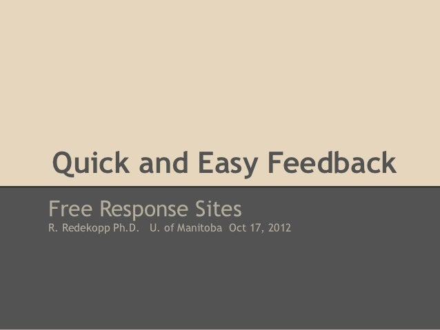 Quick and easy feedback sites