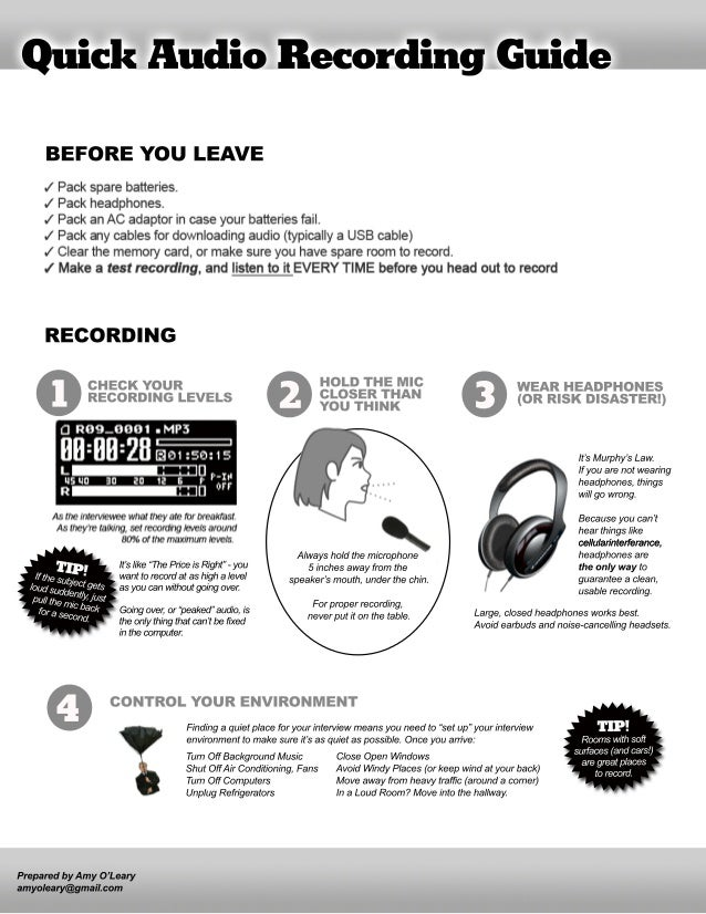 A Quick Audio Recording Guide for Journalists