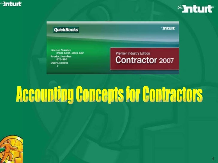 Accounting Concepts for Contractors