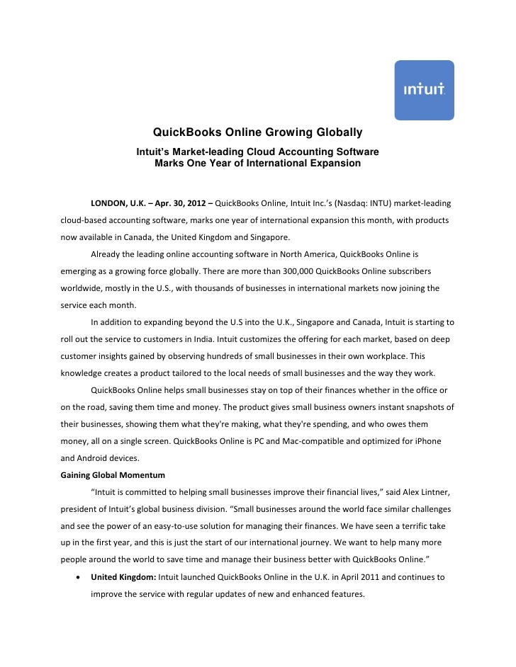 QuickBooks Online Growing Globally