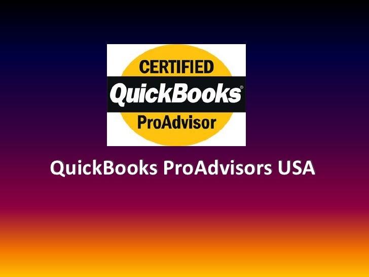 QuickBooks ProAdvisors USA