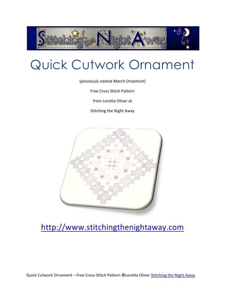 Quick Cutwork Ornament                            (previously named March Ornament)                                  Free ...