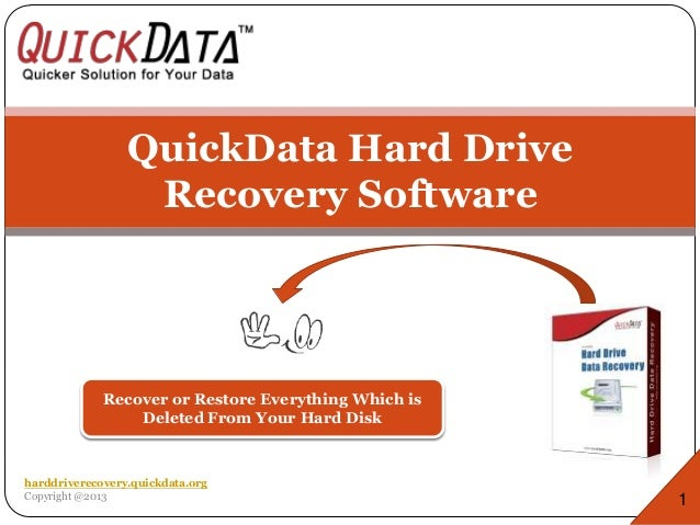QuickData Hard Drive Recovery Software