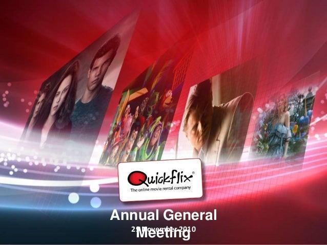 quickflix.com.a Annual General Meeting29 November 2010