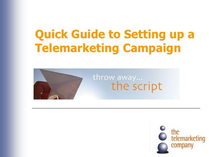 Quick Guide to Setting up a Telemarketing Campaign <br />