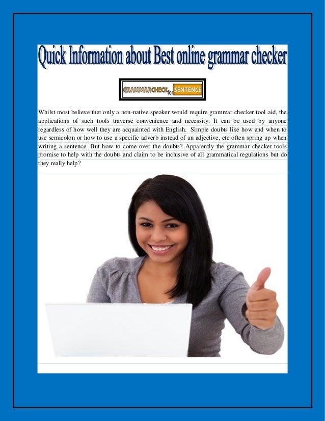 Thesis grammar checker