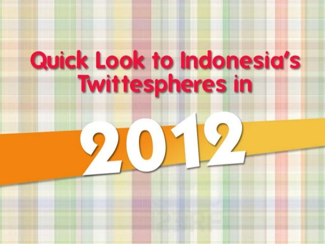 Quick Look to Indonesia's Twitterspheres in 2012