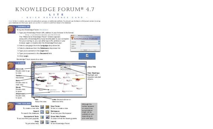 K n owledge Forum ® 4.7                                                             L         i       t   e               ...