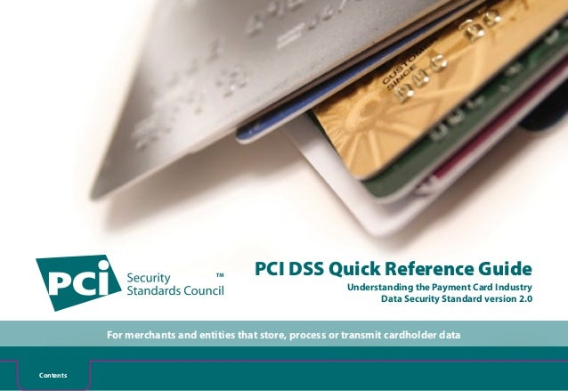 Quick Reference Guide to the PCI Data Security Standard