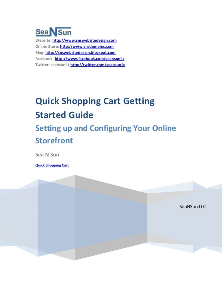 Quick Shopping Cart Getting Started Guide