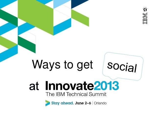 Social at Innovate 2013
