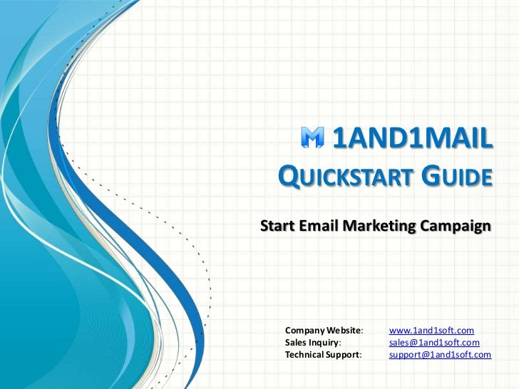1and1Mail Quickstart Guide - Start Email Marketing Campaign