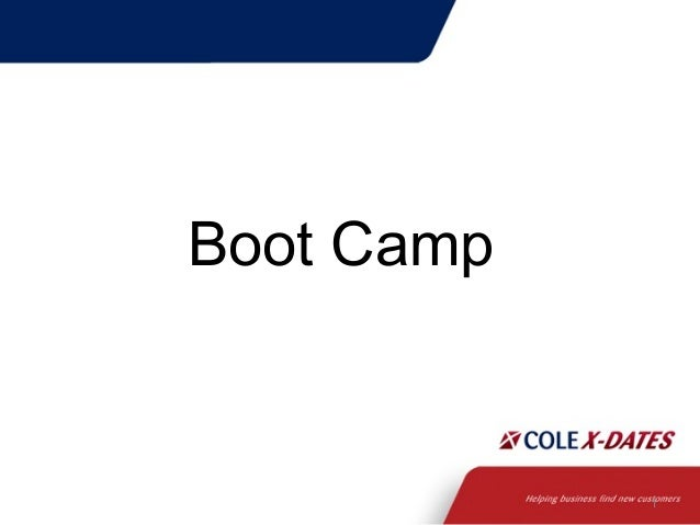 Cole X-Dates Boot Camp