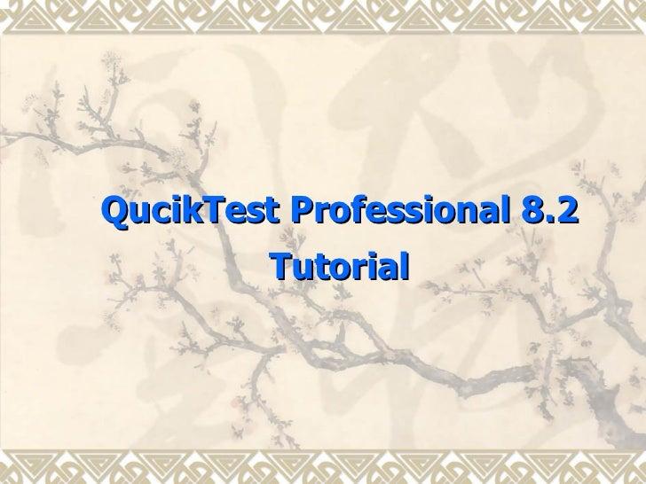Dhanasekaran 2008-2009 Quick Test Pro Presentation