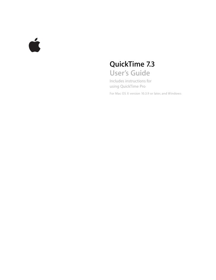 Quick Time7 User Guide