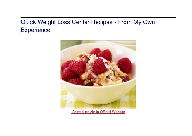 Quick weight loss recipes center recipes uk