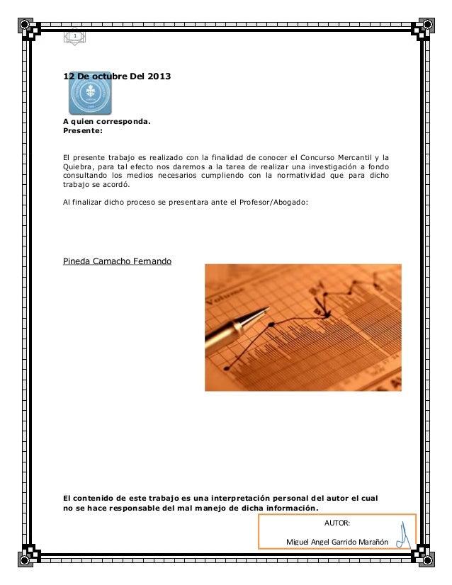 4 Concurso Mercantil 1 Slideshare