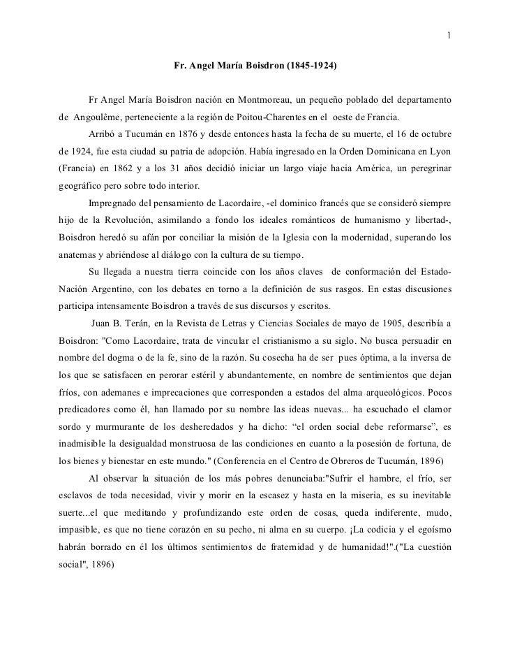 1                             Fr. Angel María Boisdron (1845-1924)       Fr Angel María Boisdron nación en Montmoreau, un ...