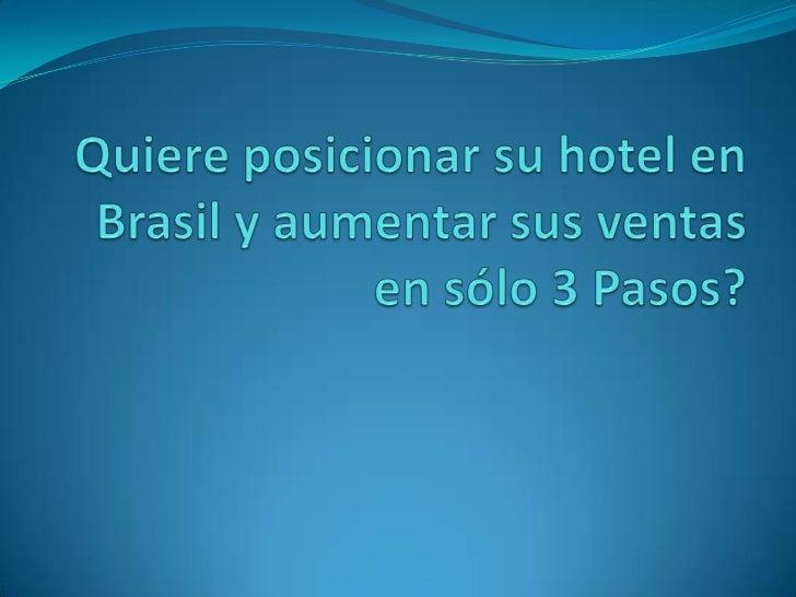 Paso 1: Canal de ventas. Capacitación y difusión a agencias y operadoras de Turismo.