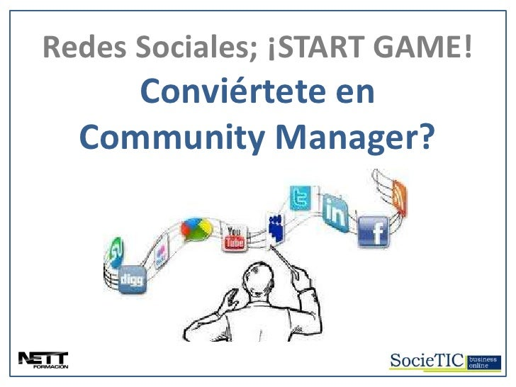 REDES SOCIALES; ¡START GAME!  Redes Sociales; ¡START GAME!           Conviértete en        Community Manager?