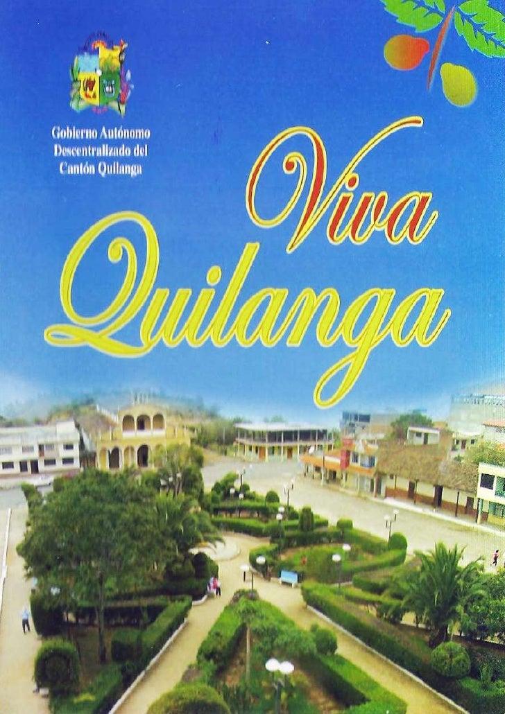 Programa de Fiestas Quilanga 2011