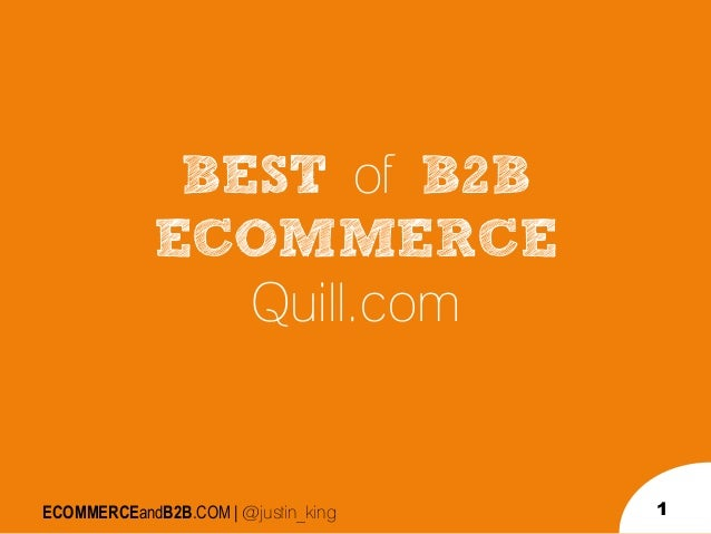 B2B eCommerce Site Example:  Quill.com