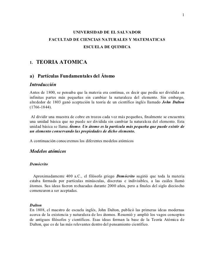 1                        UNIVERSIDAD DE EL SALVADOR            FACULTAD DE CIENCIAS NATURALES Y MATEMATICAS               ...