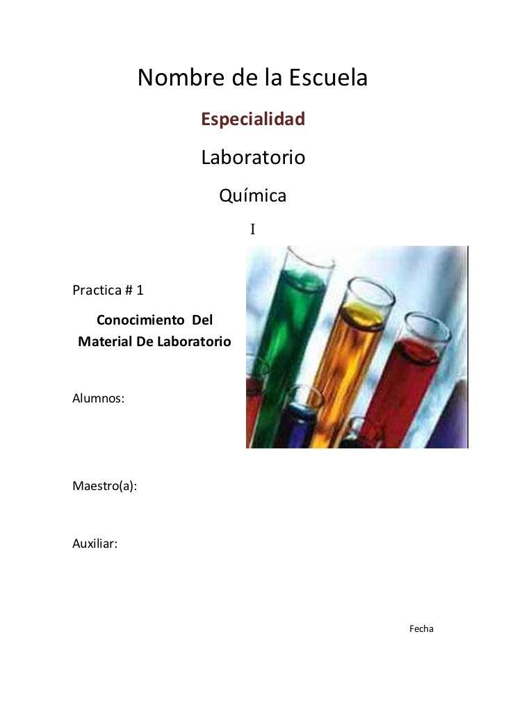 Nombre de la Escuela                   Especialidad                   Laboratorio                      Química            ...