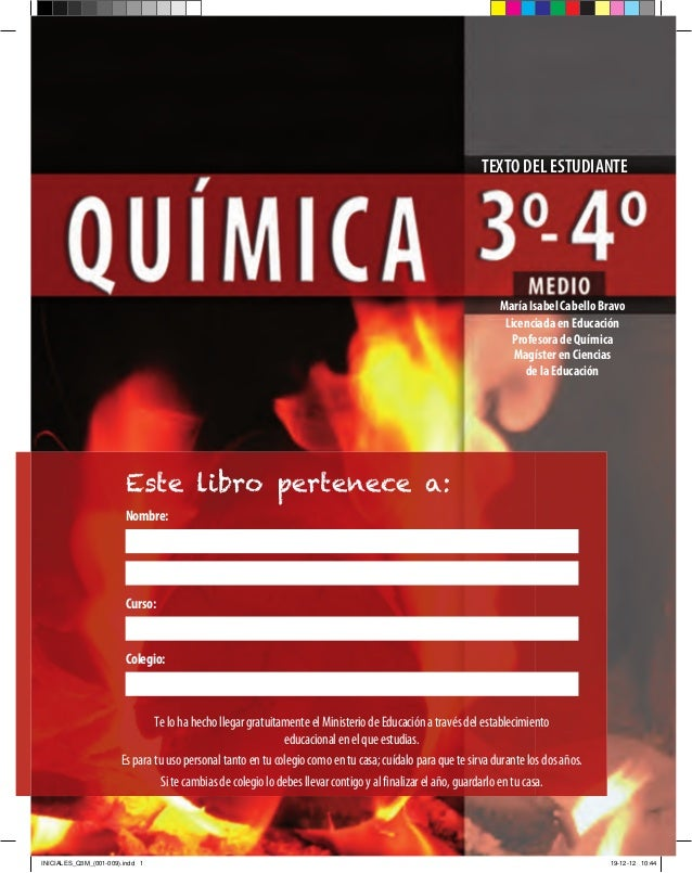 Quimica 3 y 4 medio texto para el estudiante for Libro la quimica y la cocina pdf