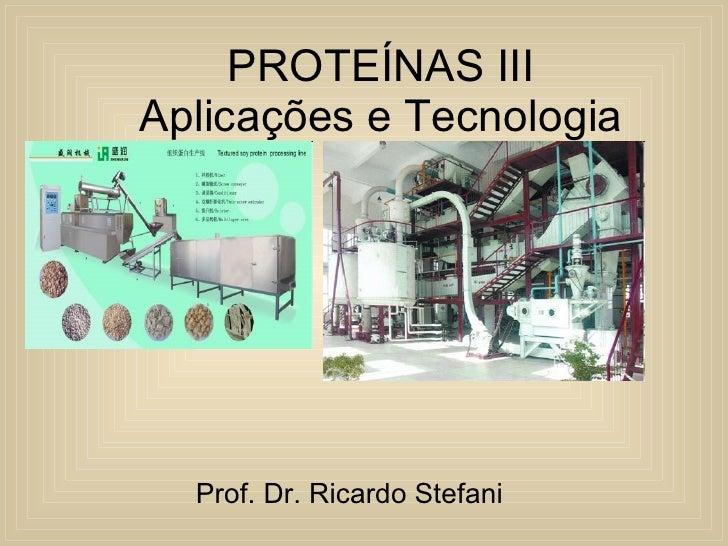 Quimica Alimentos Proteinas Aplicações