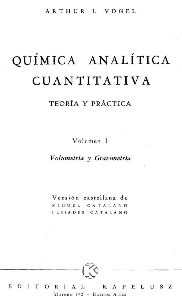 quimica analitica cuantitativa (Vogel)