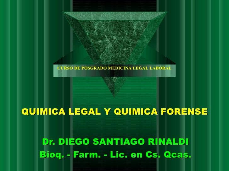 Quimica legal Rinaldi