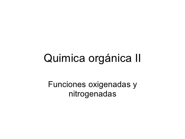 Quimica orgánica ii