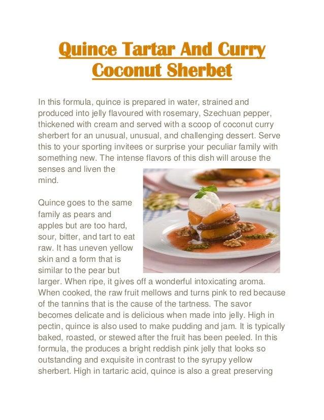 ... coconut sherbet slideshare net curry coconut forward http www