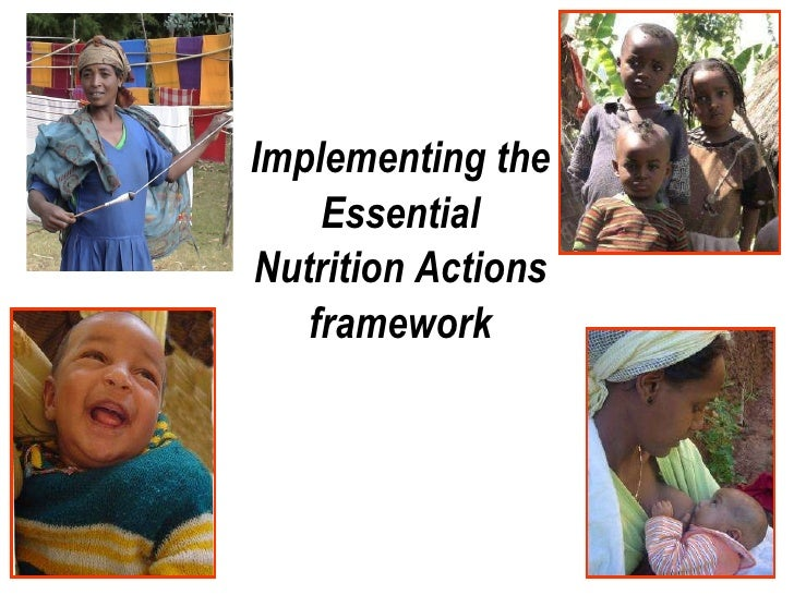 Implementing the Essential Nutrition Actions framework