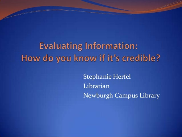 Stephanie HerfelLibrarianNewburgh Campus Library