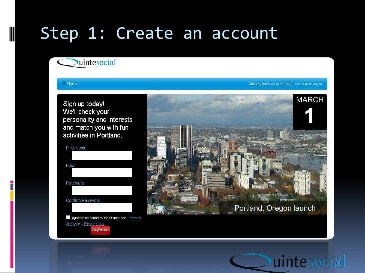 Step 1: Create an account<br />